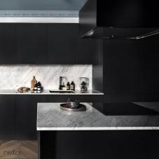 Negro cocina grifo mezclador