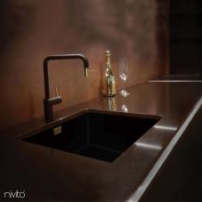 Llave Cocina Dorado/Oro/Latón Negro/Oro/Cepillado - Nivito 2-RH-340-BISTRO