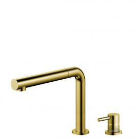 Grifo Cocina Dorado/Oro/Latón Tubo extraíble / Cuerpo y Tubo Separado - Nivito RH-640-VI